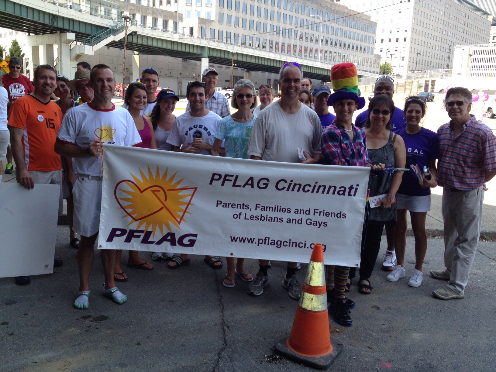 PFLAG at the Pride parade